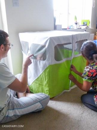 caravan campervan playhouse playroom den wendyhouse sewing project diy step by step tutorial_-9