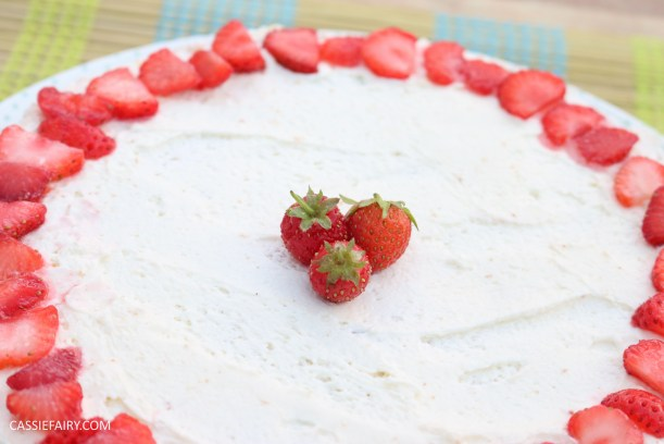 fruit cake cherry strawberry sponge bake baking recipe-6