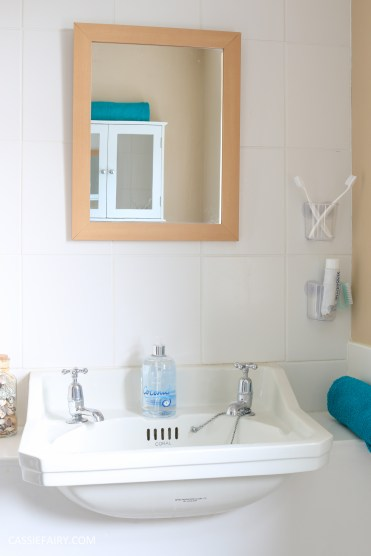 thrifty low cost summer coastal bathroom makeover diy project_-11