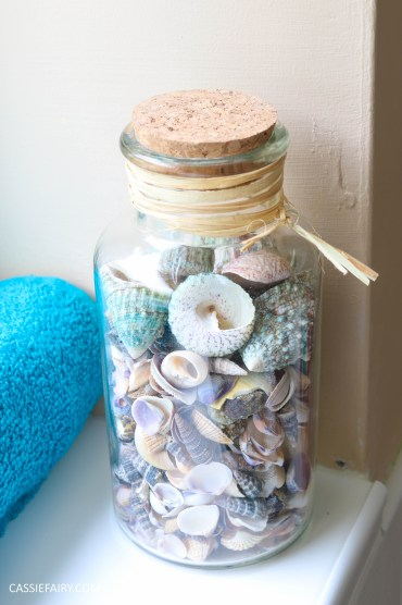 thrifty low cost summer coastal bathroom makeover diy project_-13