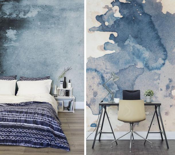 dark-blue-watercolours-murals-wallpaper-ideas-interior-design-inspiration