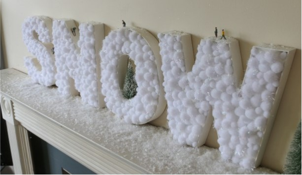 How to make DIY snowball letters + win my SNOW decoration!