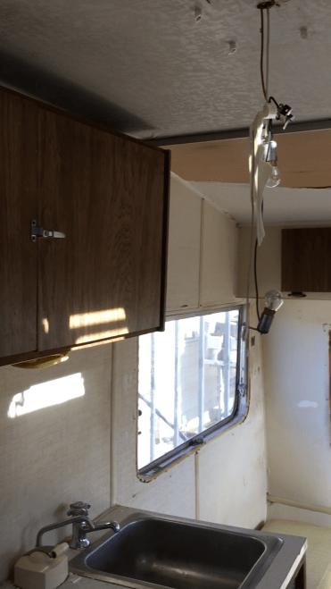 Vintage Trailer Alpine Sprite Caravan Retro Van Interior (2)