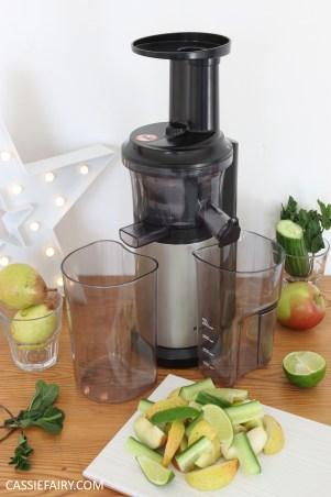 juicing herbs - juice recipe apple pear cucumber mint lime -5