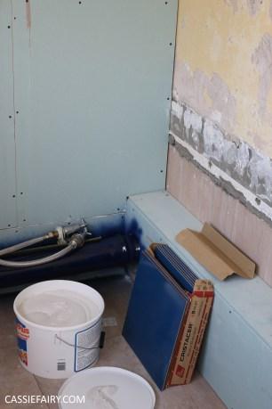 bathroom remodelling renovation makeover decorating project before tiles shower-16