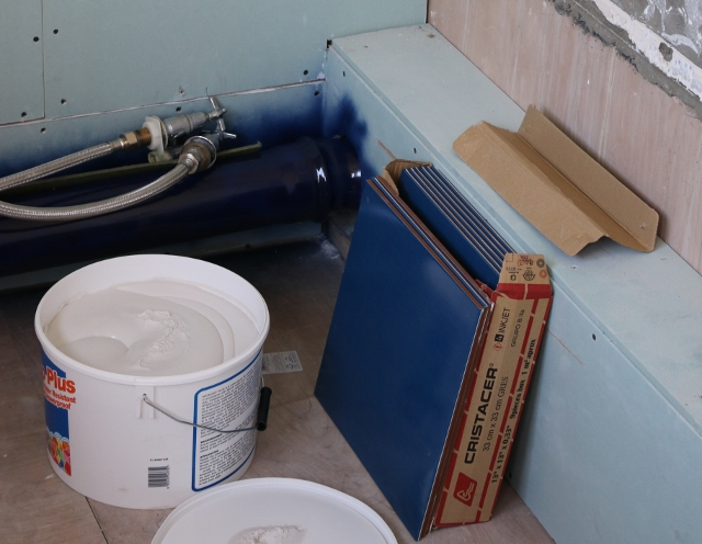My bathroom renovation project - Before + during... eek!