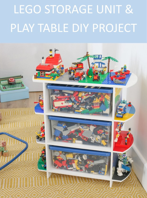 Diy Upcycled Toy Storage Unit And Lego Play Table