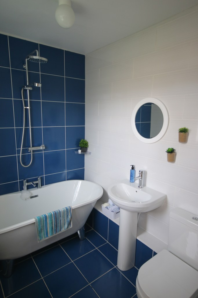 My blue bathroom that made it into the Home of the Year Awards!