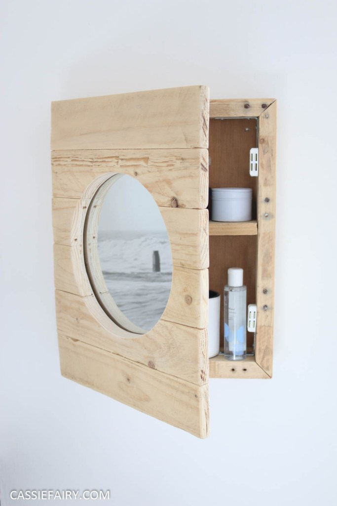 How to DIY a nautical bathroom cabinet from pallet wood