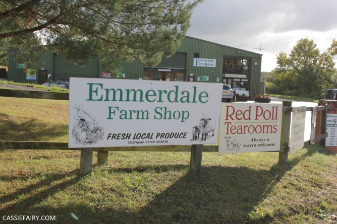 The front of a farm shop with signs outside