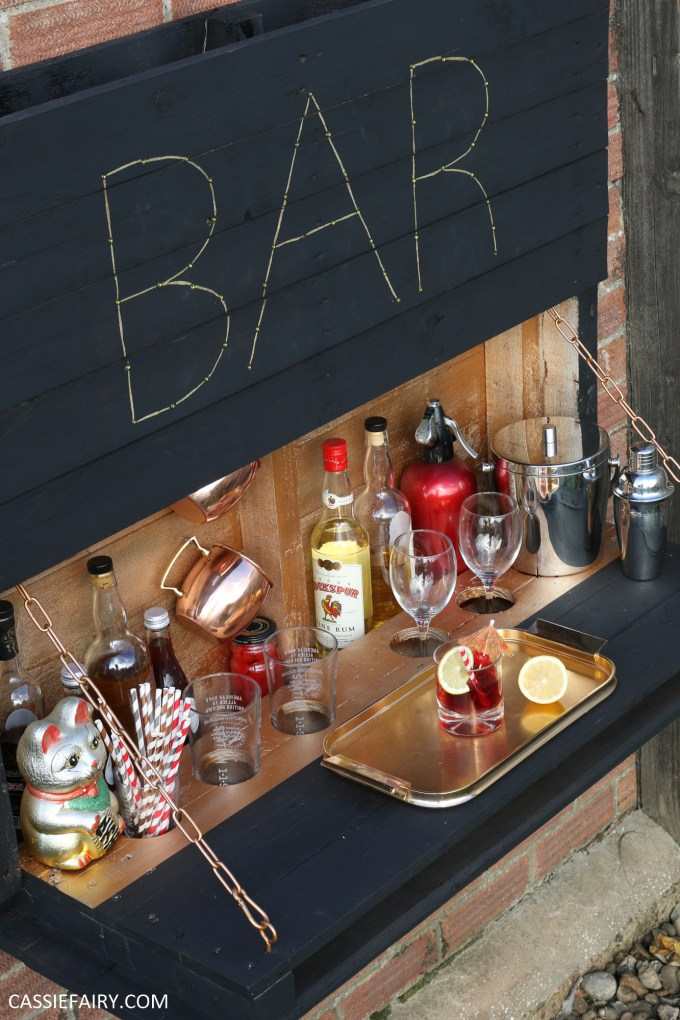 Do It Yourself Patio Bar: How To Make An Illuminated Drop-down Outdoor Bar From Pallets