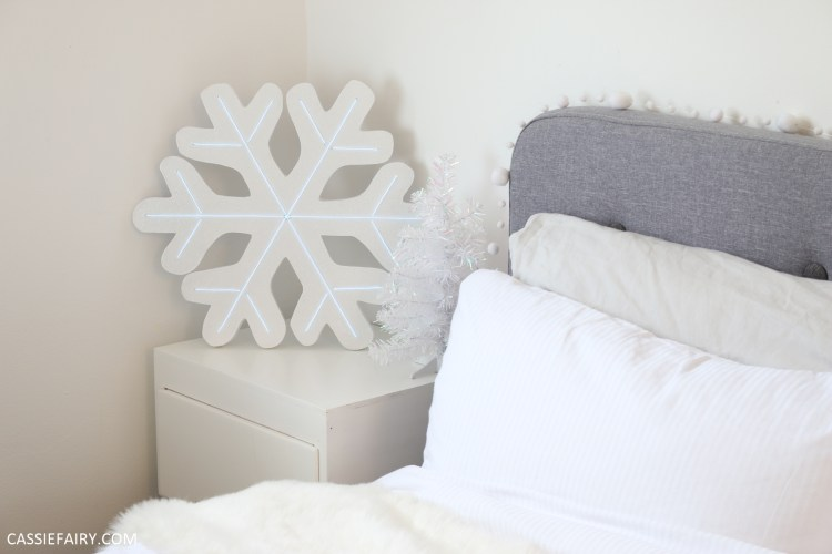 d0c946f7eb68 Here s another DIY festive décor project for you – a glittery light-up neon  snowflake. You can hang it on the wall to create a fabulously festive  feature or ...