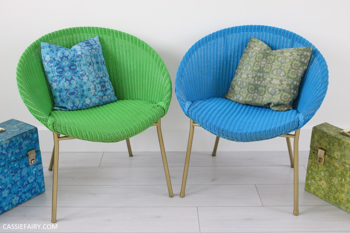 4 Tips for renovating vintage Lloyd Loom woven bucket chairs