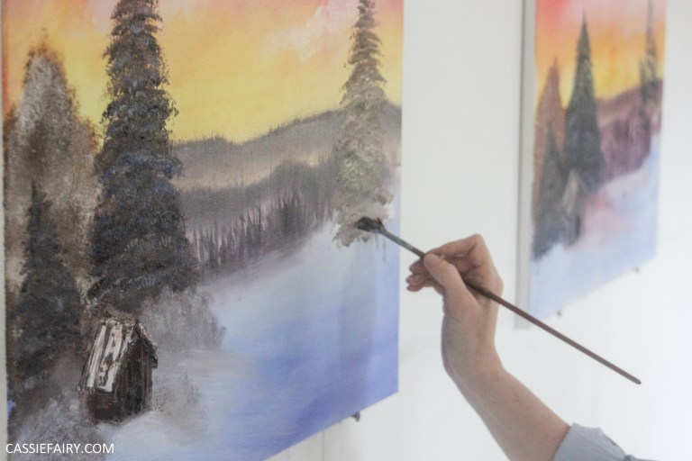 How To Host A Bob Ross Painting Party On A Budget