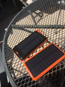 preparing my Tough Tested Solar Chargers