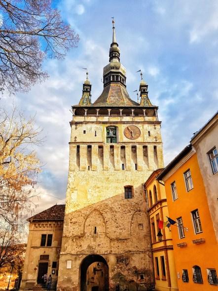 Sighisoara, Transylvania itinerary, Romania clock tower