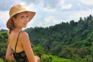 Solo travel in Bali ridge walk ubud indonesia