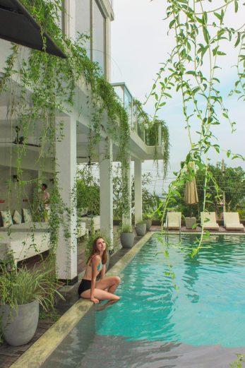 beautiful pool at Cantaloupe Levels, a small boutique hotel in Sri Lanka