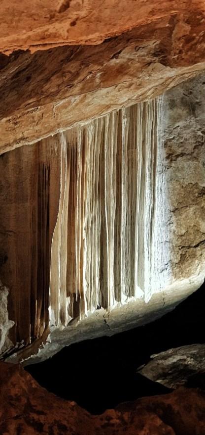 A beautiful rock formation at Jenolan Caves