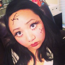 haunted doll makeup