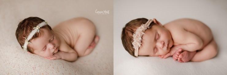 baby girl mini newborn session