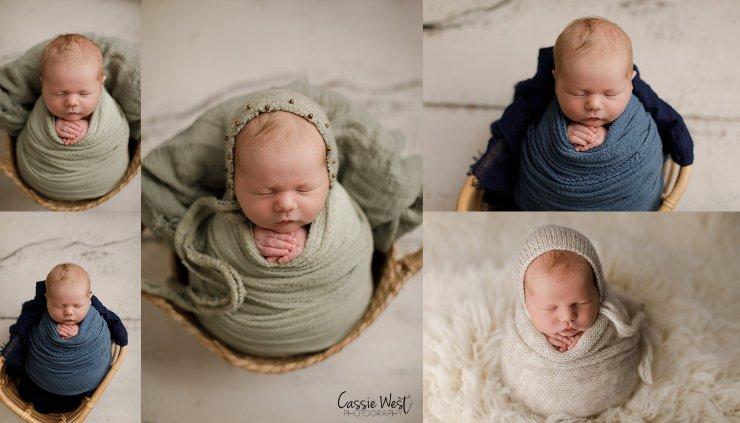 baby boy in props, newborn photos