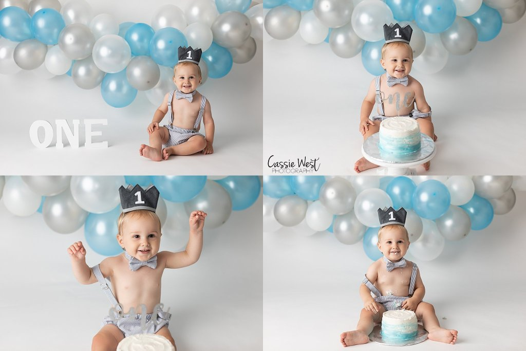 one year ct cake smash photographer photos
