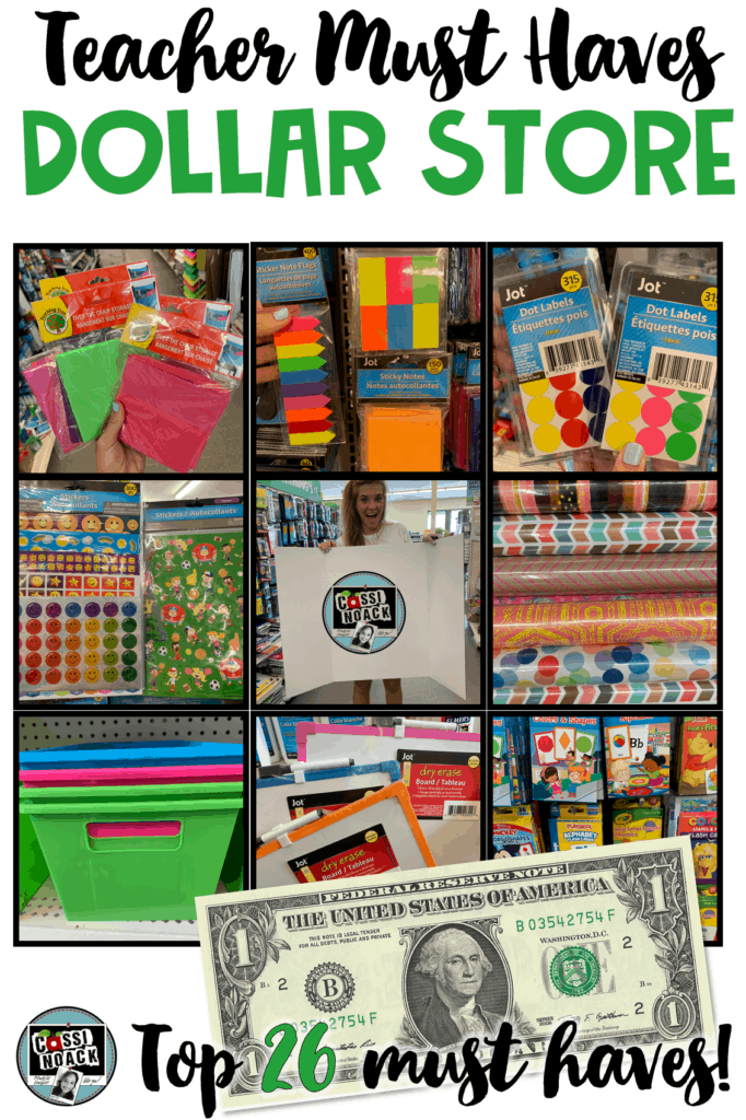 dollar store must haves for teachers