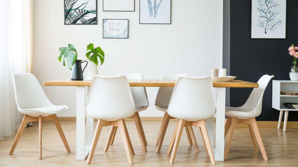 moderne eetkamerstoelen wit