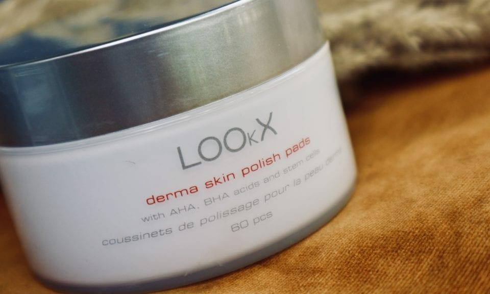 LOOKX Anti-aging sheet mask review derma skin polish pads