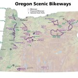 Oregon Scenic Bikeways Map Series, 2014.