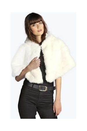 Panuelos-y-bufandas-de-mujer-Boohoo-Boutique-Amy-Faux-Fur-Hooded-Cape
