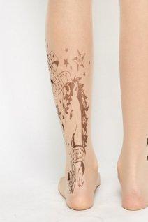 unicorn-tattoo-print-tights-tan-23392-1