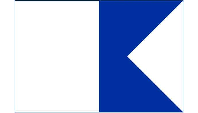 Alfa flag outline