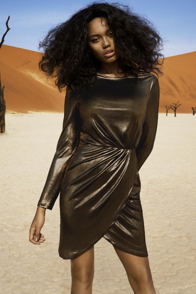 Fashion model Vahine shoots regularly for fashion and bikini campaigns