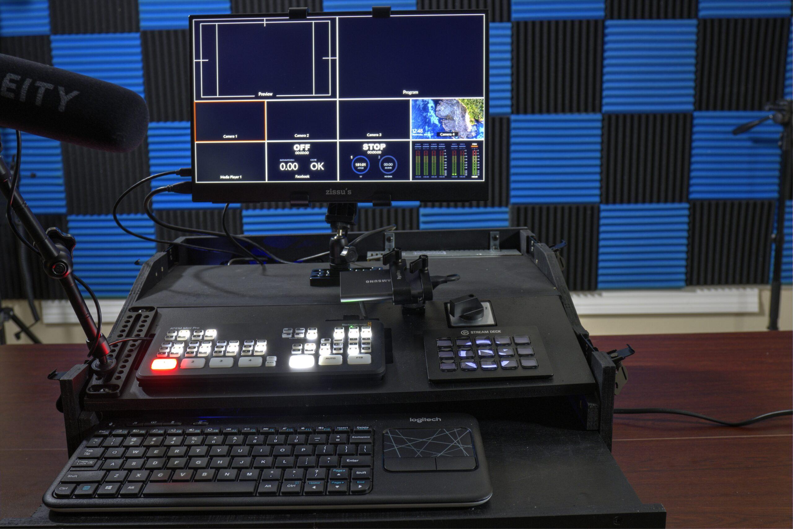 Castcrate Portable Live Streaming Mobile Broadcast Case For Blackmagic Design Atem Mini Video Switcher Custom Fly Pack Mobile Broadcast Case For Blackmagic Desing Atem Mini Atem Mini Pro Atem Mini Pro