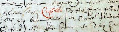 Contrat de mariage de Jacques Castelbou en 1608