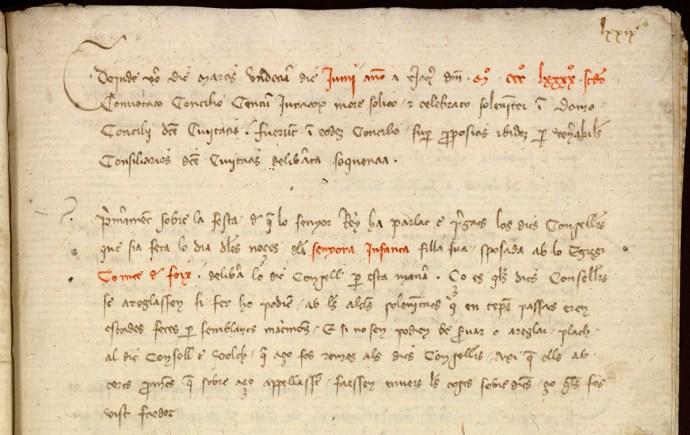 Llibre del Consell, 1392
