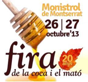 Un temps primaveral permet passejar per la Fira de la Coca i el Mató  a Monistrol de Montserrat