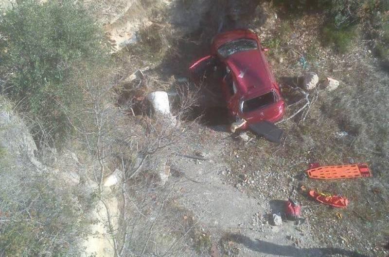 Dues persones ferides en un accident  de trànsit al carrer Joaquim Borràs a Castellbell i el Vilar