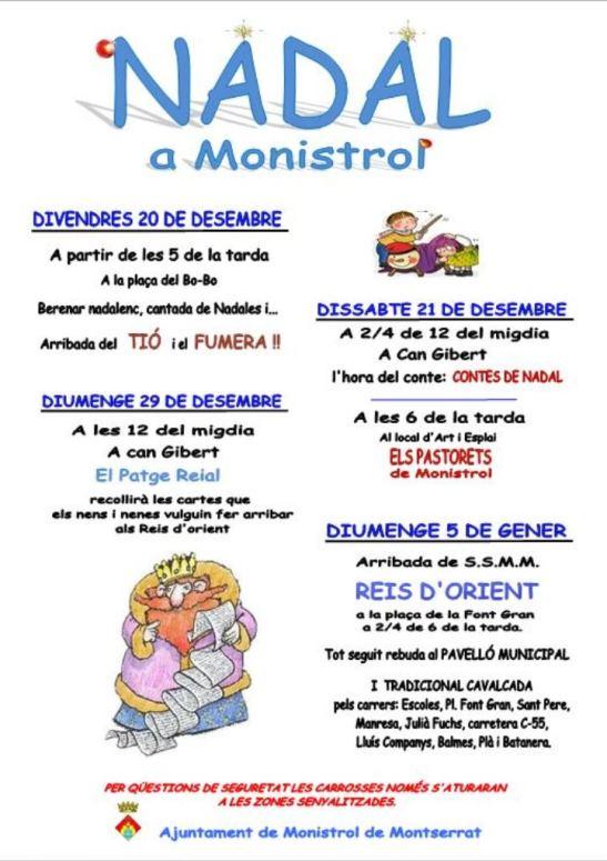 Activitats Nadal 2013 Monistrol de Montserratl