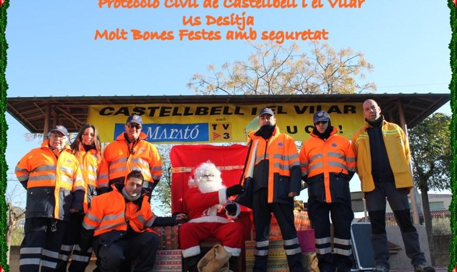 Protecció Civil de Castellbell i el Vilar us desitja unes Bones Festes  amb seguretat