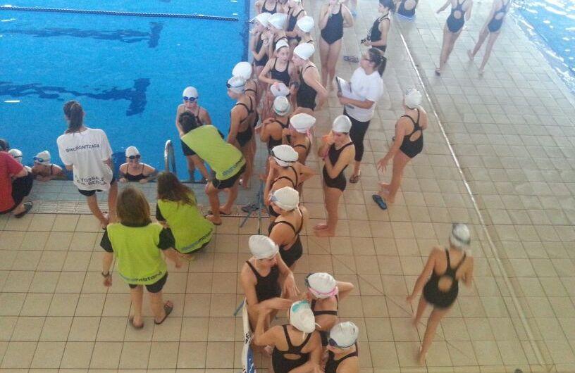 Esports : la nedadora Castellvilarenca de sincronitzada Andrea Blanco del Club Natació Minorisa  guanya a Berga