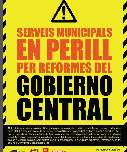 """Ajuntaments catalans faran la campanya Serveis Municipals en perill per reformes del """"Gobierno Central """""""