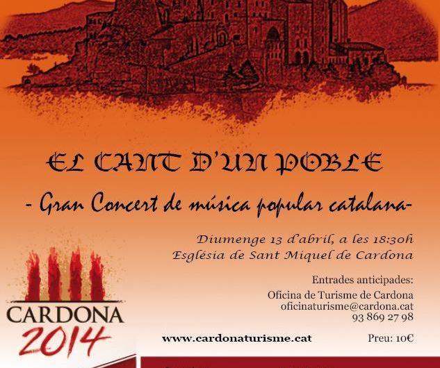 """La Capella de música burés actuarà aquest diumenge al """" El Cant d´un Poble """" a Cardona amb motiu del tricentenari"""