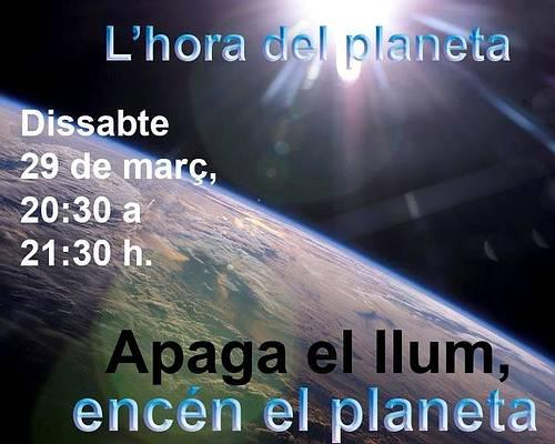 Castellbell i el Vilar s´adhereix a l´hora del planeta que es fa dema dissabte  de 2/4 de 9 a 2/4 de 10 del vespre