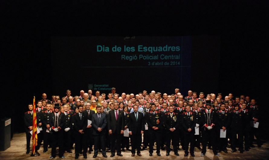 El conseller d'Interior presideix la celebració del Dia de les Esquadres a la Regió Policial Central