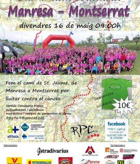 Els Mossos faran la tercera caminada solidaria contra el càncer  fent el camí de sant jaume( Manresa a Montserrat )