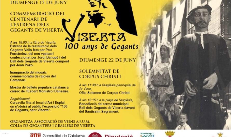Els gegants del Barri de Viserta ( Monistrol de Montserrat) celebren el primer acte del seu Centenari.