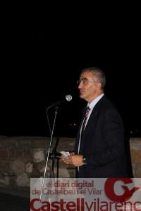 El delegat del Govern de la Generalitat a les comarques centrals Juli Gendrau fent el discurs institucional del acte
